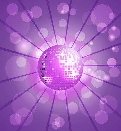 Purple disco with purple background