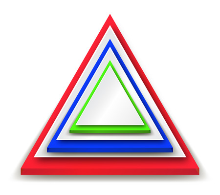 Piramide Triangle Sign Background Vector