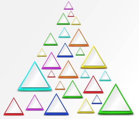 abstract triangle background in many color Illustration