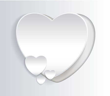 White love sign with paper effect