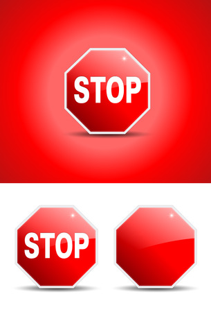 stop sign with glossy effect