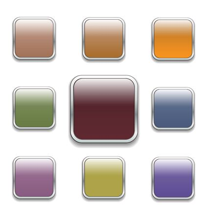 square buttons: square buttons in various pale colors