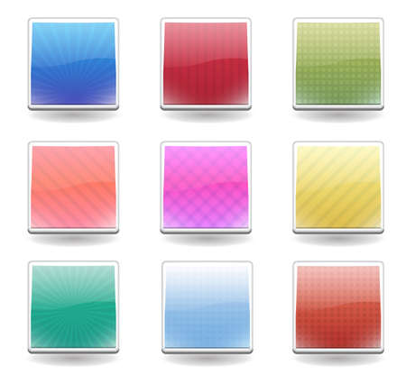 Square buttons with patter and bright color