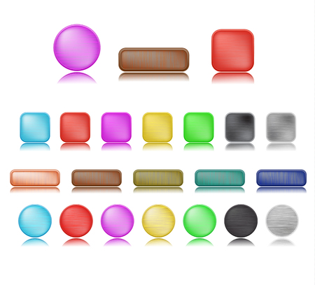 Buttons With Various Shape and Color