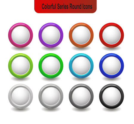 blank round glossy icon