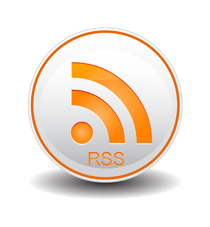 really simple syndication: rss orange and white color