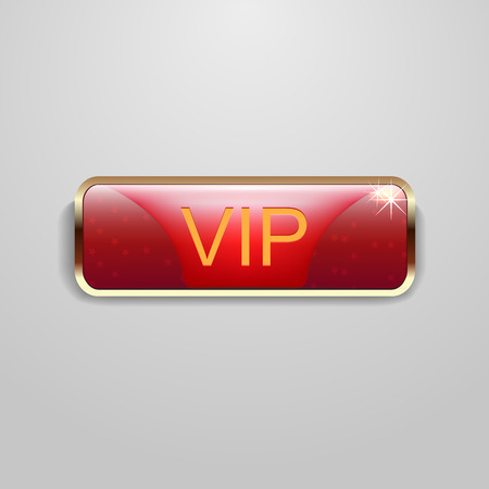 Vip button symbol in red color