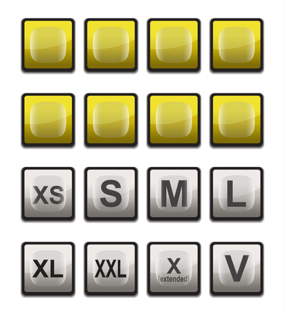 icon measure size in square shape Vector