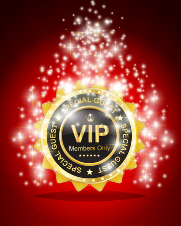 vip badge in red background
