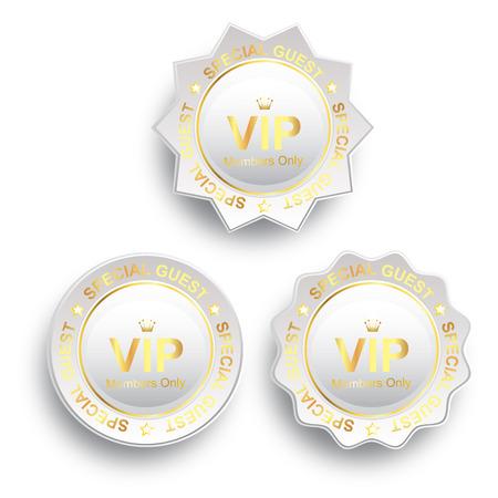 VIP Membership Gold Medal Vector