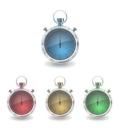 vector illustration stopwatch in few color Vector