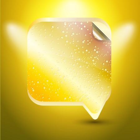 gold color: Speech bubble gold color
