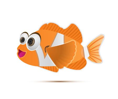 Vector illustration of anemone clownfish cartoon Vector