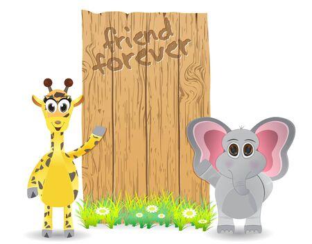 vactor: Vactor illustration of animal friendship