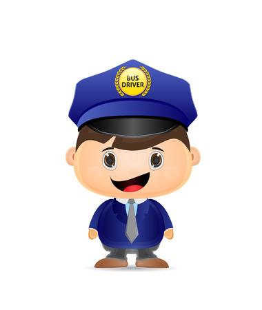conductor del autobús escolar de dibujos animados