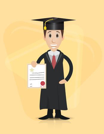 evening gown: graduation cartoon character