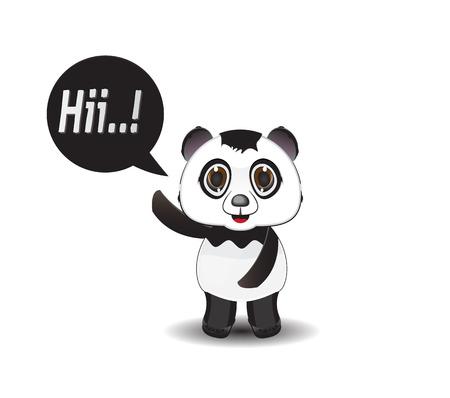 sneering: cartoon illustration say hi