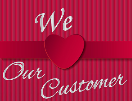 dedicate: ilustration for sign we love our customer