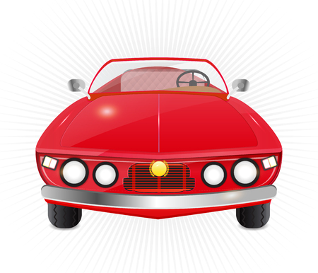 red car convertible isolated Illustration