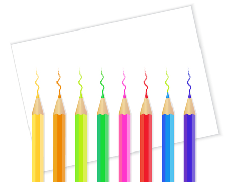jersey city: coloring pencil with white paper Illustration