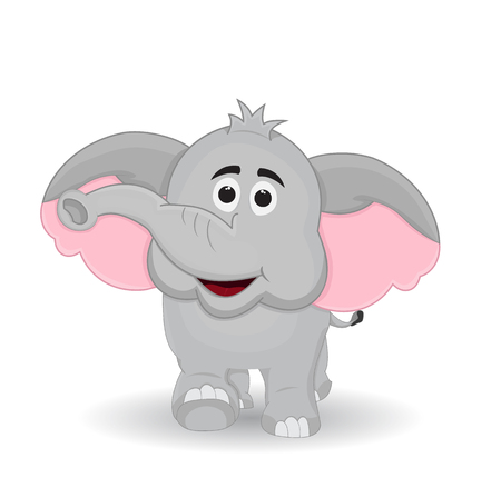 cartoon elephant front view with walking pose