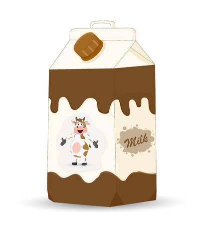 illustration of carton milk with screw cap