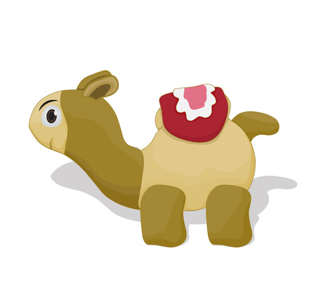 cartoon cute camel ilustration isolated on white background