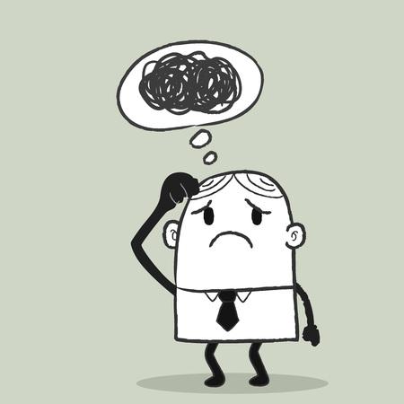ergonomie: Business Man Confuse