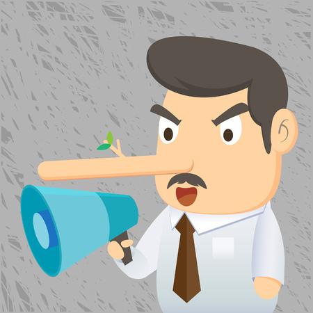 Hombre de negocios mentira