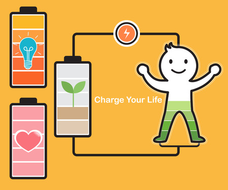 Charge Life Illustration