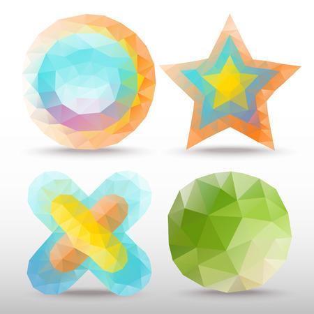 tetraedro: Icona Poligono Vettoriali