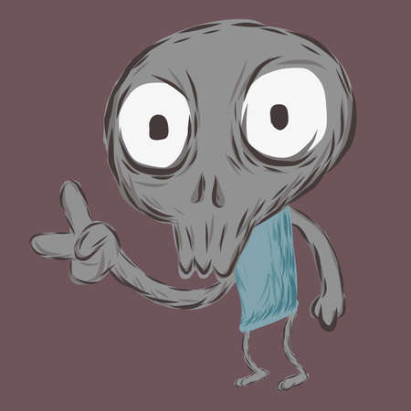 lowbrow: Skull ragazzo