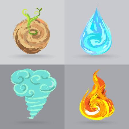 four elements: Cuatro elementos Vectores