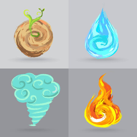 Four Elements Illustration