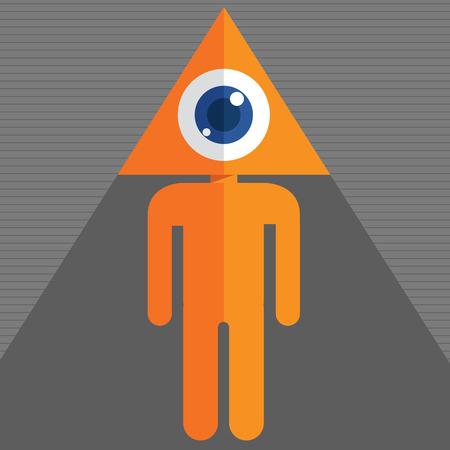 freemasons: Triangle Eye Illustration