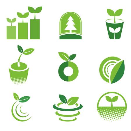 antipollution: Green Icon Illustration