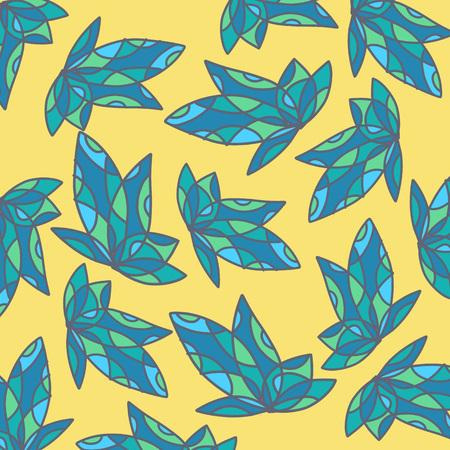 abstractionism: Arte azul de la hoja