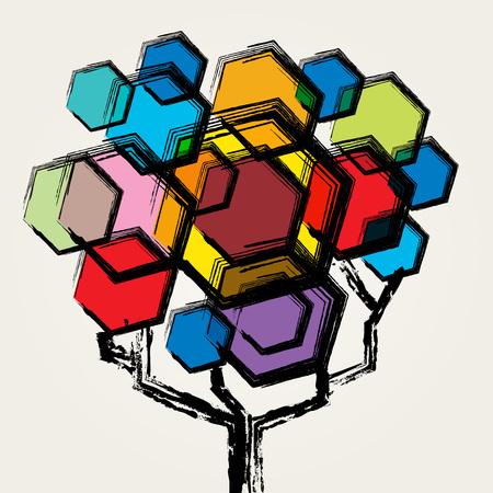 colorful tree: Colorful tree Illustration