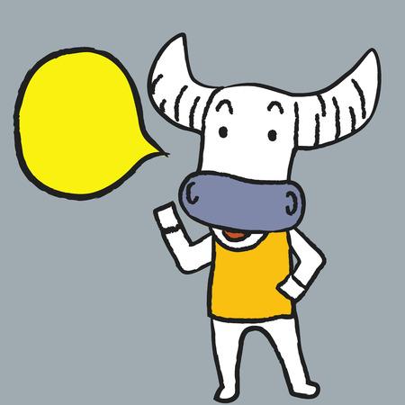 said: Buffalo said Illustration