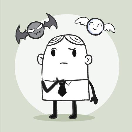 predicament: Business man confuse
