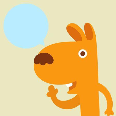 animal nose: Dog balloon talk Illustration