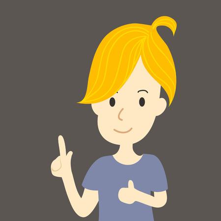 pre adolescent: Girl smile Illustration