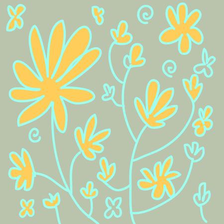 formal garden: Flower pattern Illustration