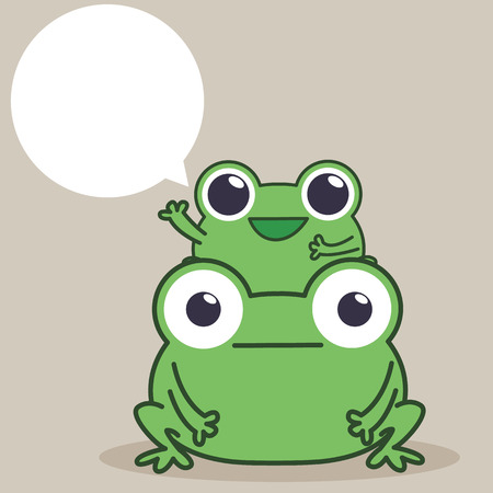 duo: Frog Duo Illustration