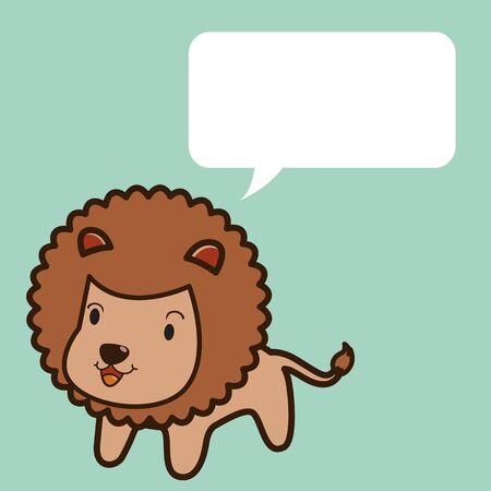 undomesticated cat: Lion talk Illustration
