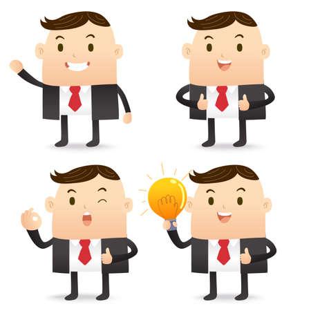 irritation: ฺBusiness Character bulb