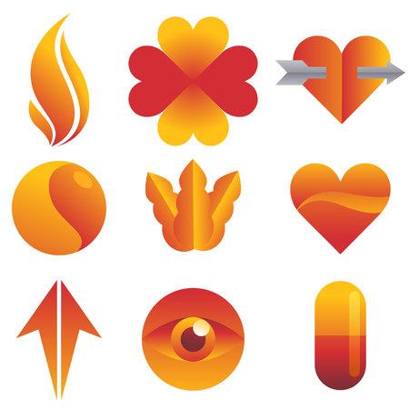 heart tone: Icono amarillo rojo
