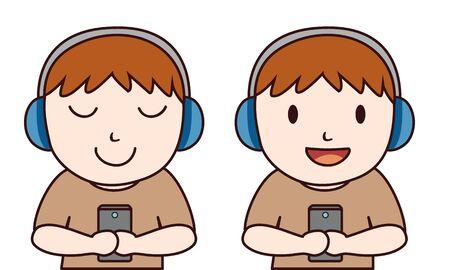 head phone: Chico tel�fono Head