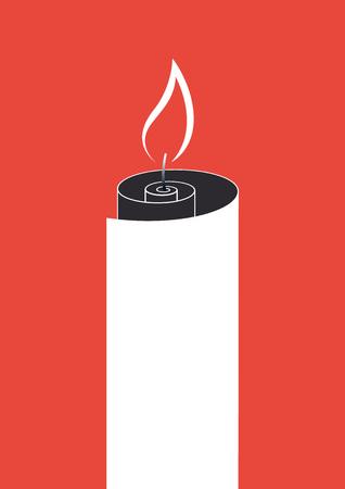 brandweer cartoon: Papierrol brand