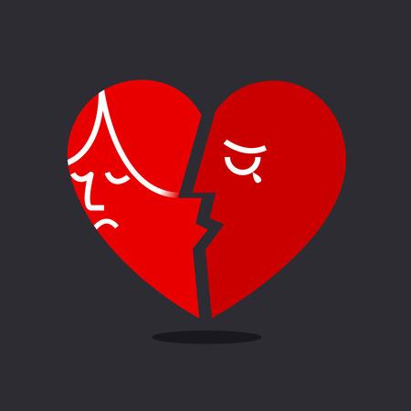 corazon roto: Coraz�n roto Vectores